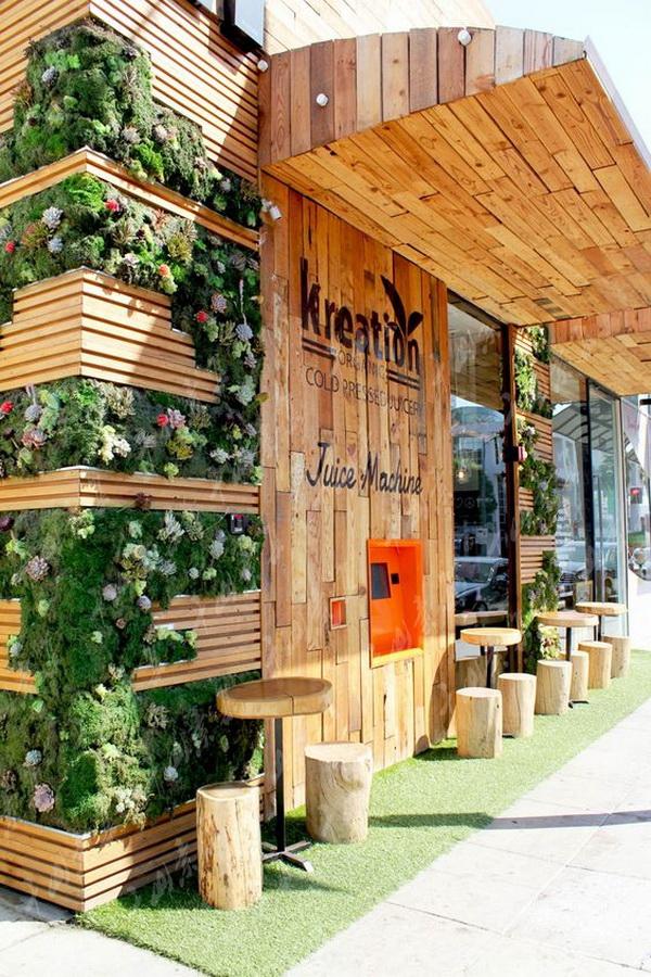 酒吧植物墙,室内植物墙,植物墙设计