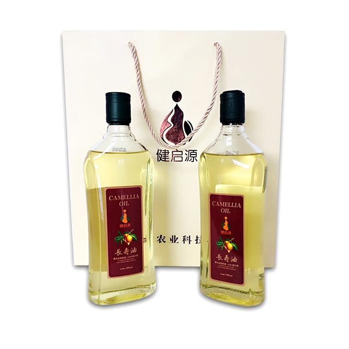 健启源 野生茶籽油 健康长寿油500ml/*2